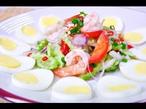 Video Thai Food Spicy Cucumber Salad With Hard Boiled Egg Yum Tang Kwa Khai Tom Jpg