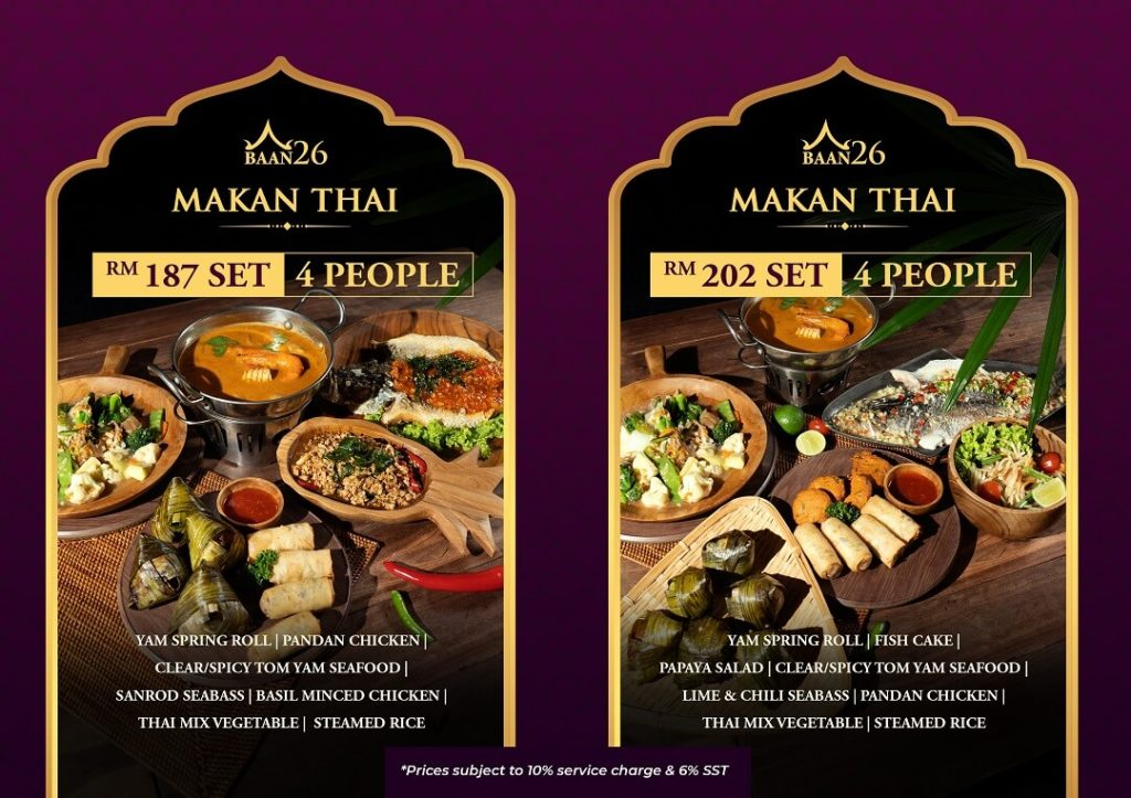 SET C - 4 PERSONS (1) - Best Thai Restaurant in KL | Thai Food | Bar | Cocktail | BAAN26