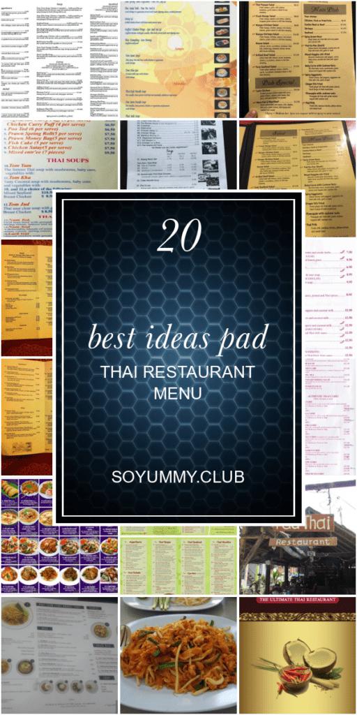 20 Best Ideas Pad Thai Restaurant Menu - Best Round Up Recipe Collections